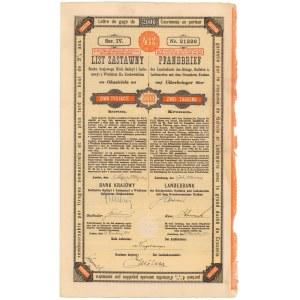Lwów, Bank krajowy, List zastawny 2.000 kr 1921
