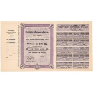 Przetwórnia Chemiczna Drzewa, Em.1, 100x 1.000 mkp 1922 - blankiet