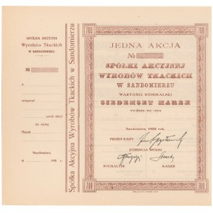 Spółka Akc. Wyrobów Tkackich w Sandomierzu, 700 mk 1922 - blankiet