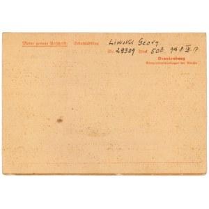 ORANIENBURG Obóz koncentracyjny, korespondencja z obozu 04.1942