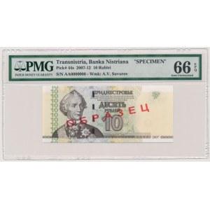 Transnistria, 10 Rublei 2007 SPECIMEN