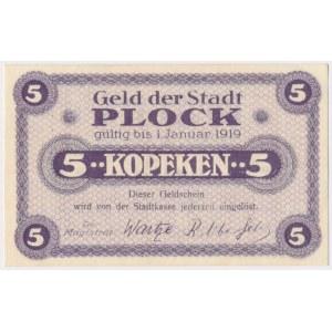 Płock, 5 kopiejek (ważne do 1.1.1919)