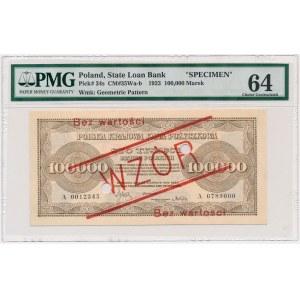 100.000 mkp 1923 - WZÓR - z perforacją