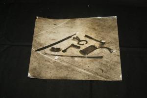 Photographie figurant des armes anciennes
