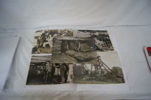 Ensemble de 5 photographies figurant des Mines de charbon en Pays de Galles.