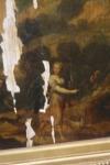 Ecole du 19eme siècle, Scène mythologique, huile sur panneau parqueté . 44X32 cm (importants manques)