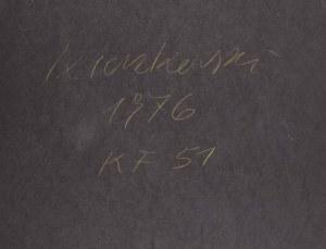 Bronisław Kierzkowski (1924 Łódź – 1993 Warszawa) - Kompozycja abstrakcyjna KF 51, 1976