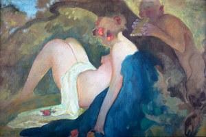 Kazimierz Sichulski (1879 Lwów - 1942 tamże) - Nimfa i satyr, 1919 r.