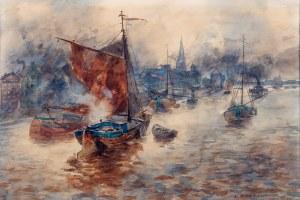 Erich Nikutowski (1872 Düsseldorf – 1921 Kaub) - W porcie