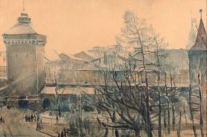 Władysław Jarocki (1879 Podhajczyki/Ukraina - 1965 Kraków) - Widok na Kraków z Akademii Sztuk Pięknych, 1906 r.