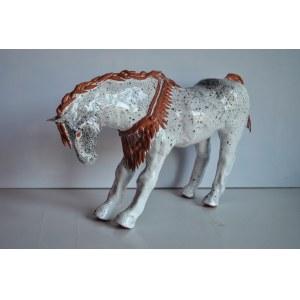Aneta Śliwa, Koń biały z wieńcem, 2018