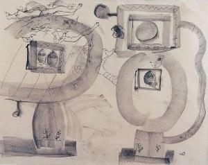 Wacław BOROWSKI (1885-1954), Rysunek satyryczny