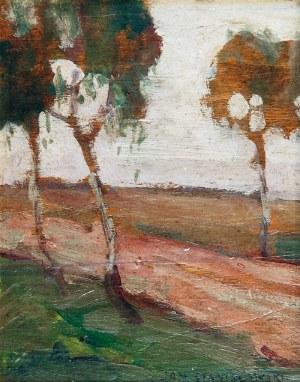 Jan STANISŁAWSKI (1860-1907), Pejzaż z drzewami