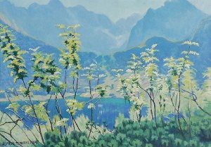 Alfred TERLECKI (1883-1973), Wiosna nad Morskim Okiem, 1964