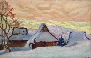 Emil KRCHA (1894-1972), Wioska na Podhalu - Tatary