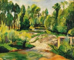 Henryk EPSTEIN (1890-1944), Pejzaż z wodnym jazem