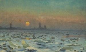 Ferdynand RUSZCZYC (1870-1936), Widok na Twierdzę Pietropawłowską w St Petersburgu zimą, 1897