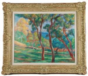 Józef PANKIEWICZ (1866-1940), Pinie na zboczu - Saint-Tropez, 1921
