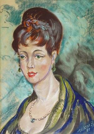 Wiktor ZIN (1925-2007), Portret młodej kobiety, 1981