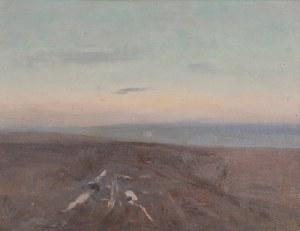 Stanisław STRASZKIEWICZ (1870-1925), Pejzaż o zachodzie słońca