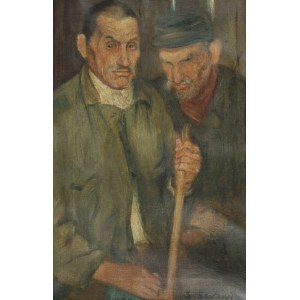 Leon LEWKOWICZ (1890-1950), Portret mężczyzn - Dozorcy