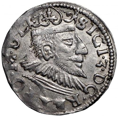Zygmunt III Waza, Trojak 1593 Poznań - nieopisana interpunkcja