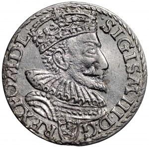 Zygmunt III Waza, Trojak 1594 Malbork - nieopisana interpunkcja