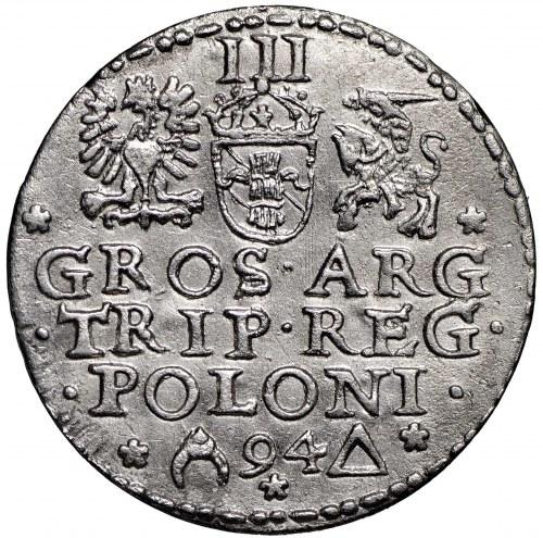 Zygmunt III Waza, Trojak 1594 Malbork - otwarty pierścień