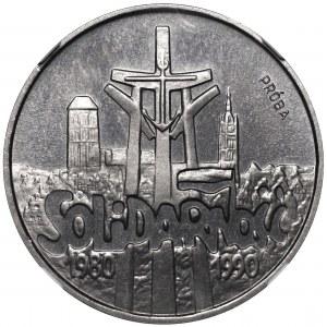 III RP, Próba nikiel 100 000 złotych 1990 Solidarność - NGC PF67 Cameo