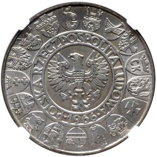 PRL, 100 złotych 1966 Mieszko i Dąbrówka - NGC MS63