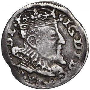 Zygmunt III Waza, Trojak 1593 Wilno - hybryda