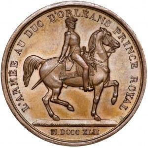 France, Louis Philippe I, Medal 1842 L'Armee au duc d'Orleans Barre