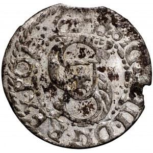 Zygmunt III Waza, Szeląg 1615 Ryga - przebitka III/D