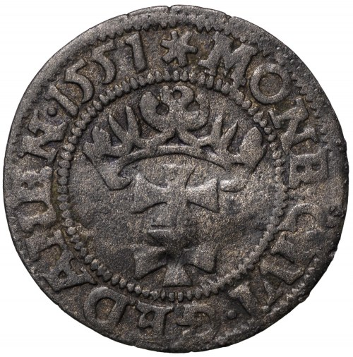 Zygmunt II August, Szeląg 1551 Gdańsk - rzadki