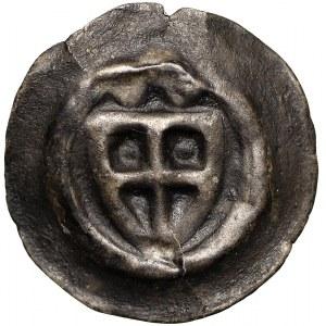 Zakon Krzyżacki, Brakteat - Tarcza zwieńczona dwiema kulami