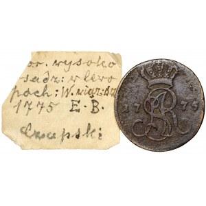 Poniatowski, Grosz 1775 EB - ex Soubise-Bisier