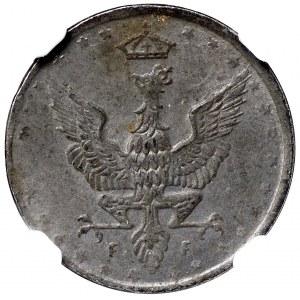 Królestwo Polskie, 5 fenigów 1917 - NGC UNC Details