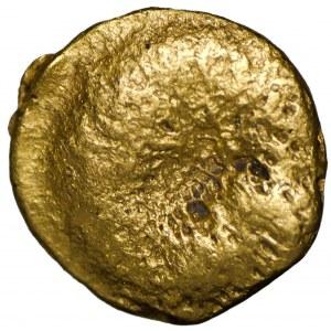 Celtic, Boii, 1/24 stater gold - Athena-Alkis