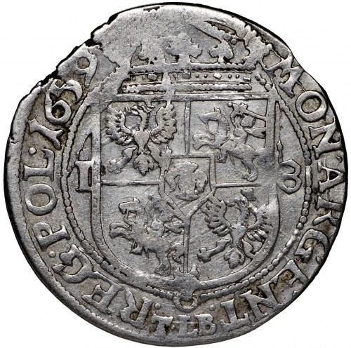 Jan II Kazimierz, Ort 1659 Kraków - nieopisany SV M D L/ARGENT