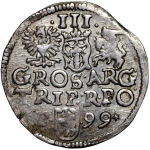 Zygmunt III Waza, Trojak 1599 Poznań - *P•-•99*