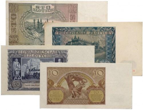 GG, Zestaw 10-100 zł (4 szt)