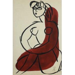 Monika Piwowarska (1914-2006)Akt w fotelu