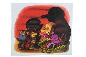 Jerzy Flisak (1930 Warszawa - 2008 tamże)Ilustracja nr. 19 z cyklu Hubert i jego przyjaciel Kudłacz