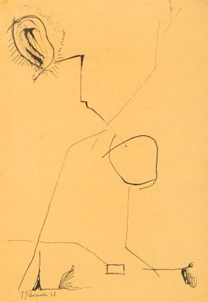 Jerzy Tchórzewski (1928-1999), Kompozycja, 1948