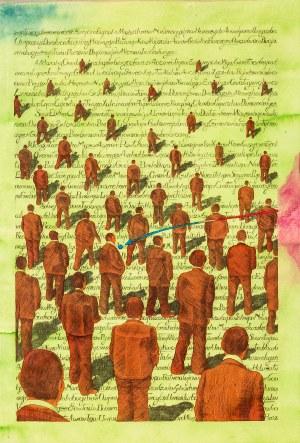 Jan Sawka (1946-2012), A Book of Fiction - projekt ilustracji, 1983