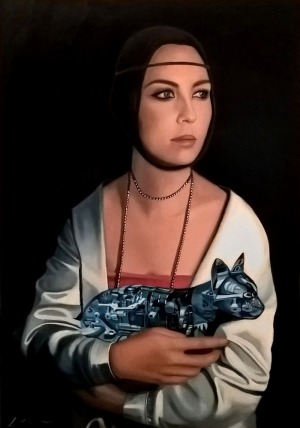 Kamila Stępniak, Lady with a cat, 2015