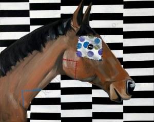 Sławomir Danielski, Kary koń z białą łatą w groszki (2018)