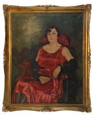 Fryderyk PAUTSCH (1877-1950), Portret kobiety - Margit Tillowa, 1929