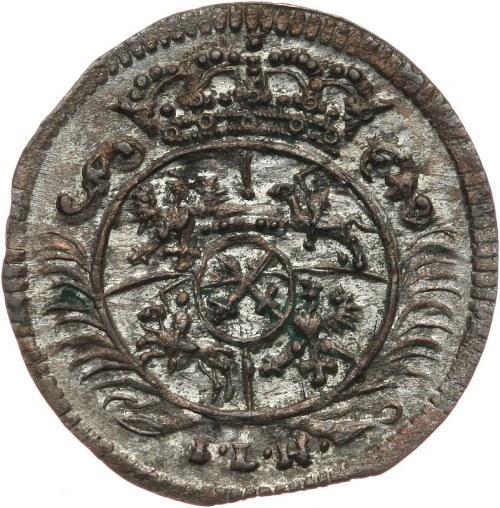 August II Mocny 1697-1733, halerz 1699 ILH, Drezno.