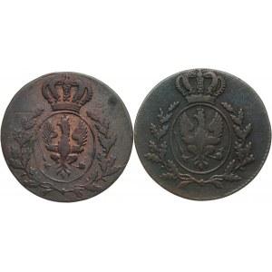 Wielkie Księstwo Poznańskie, Zestaw 2 sztuk - 1 grosz 1816 A i B, Berlin i Wrocław